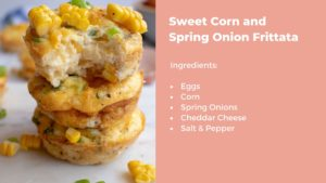 Sweet corn spring onion recipe